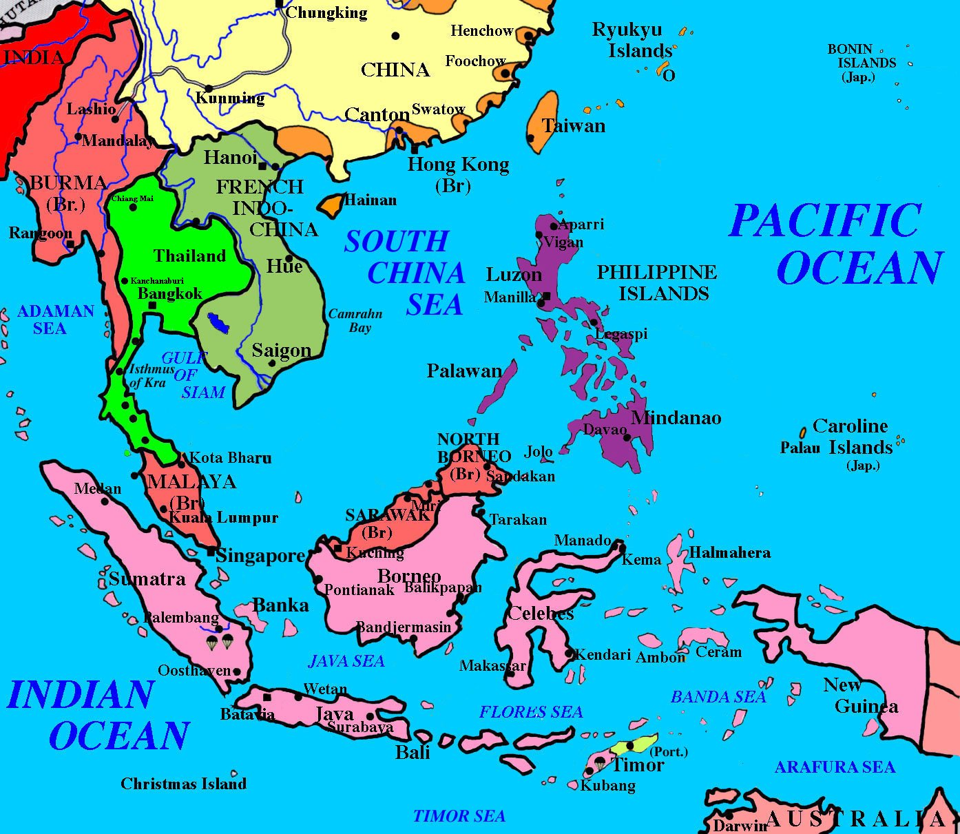 East Indies Islands Map